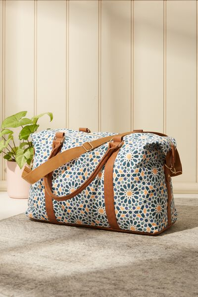 Buffalo Overnighter Duffle Bag, MOROCCAN TILE PRINT