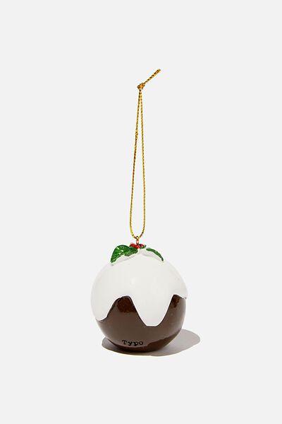 Resin Christmas Ornament, CHRISTMAS PUDDING