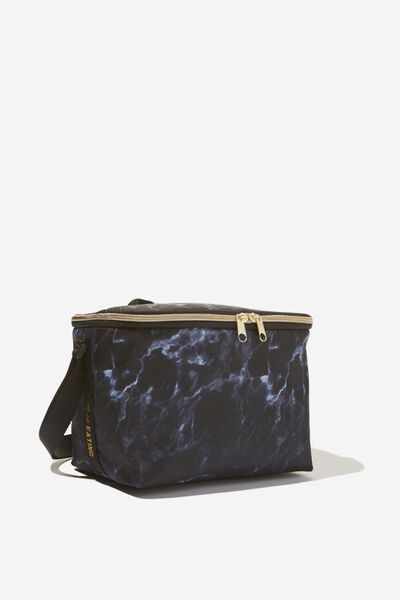 Cooler Lunch Bag, BLACK MARBLE