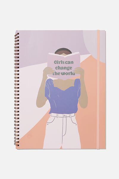 A4 Spinout Notebook Recycled, CHANGE THE WORLD