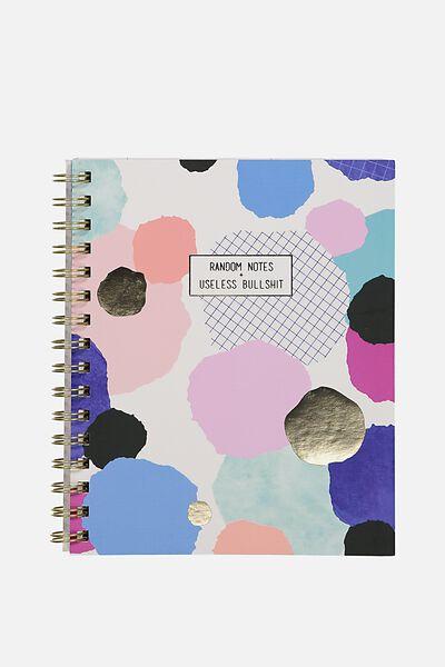 Medium Campus Notebook - 240 Pages, RANDOM NOTES!