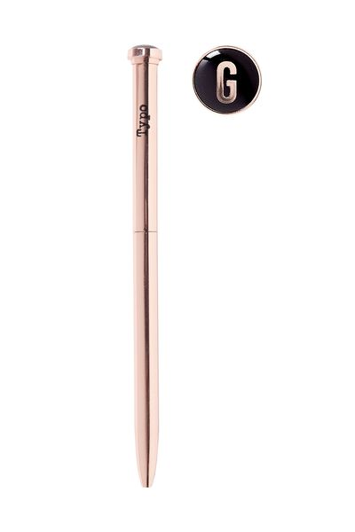 Initial Ballpoint Pen, ROSE GOLD G
