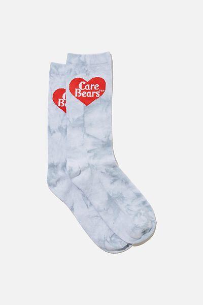 Socks, LCN CLC CARE BEARS TIE DYE LOGO BLUE