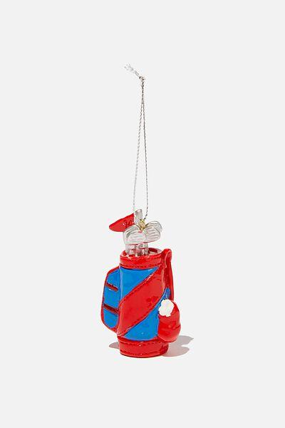 Resin Christmas Ornament, GOLF CLUBS