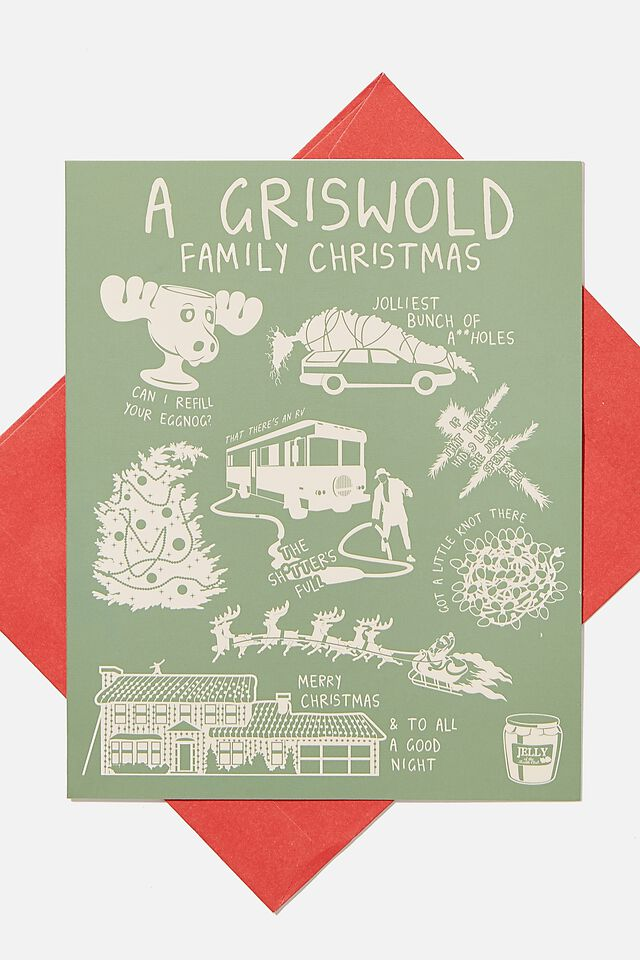 Christmas Card, LCN WB LAMPOONS GRISWOLD ICONS!