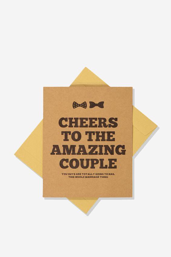Wedding Card, CHEERS TO AMAZING COUPLE