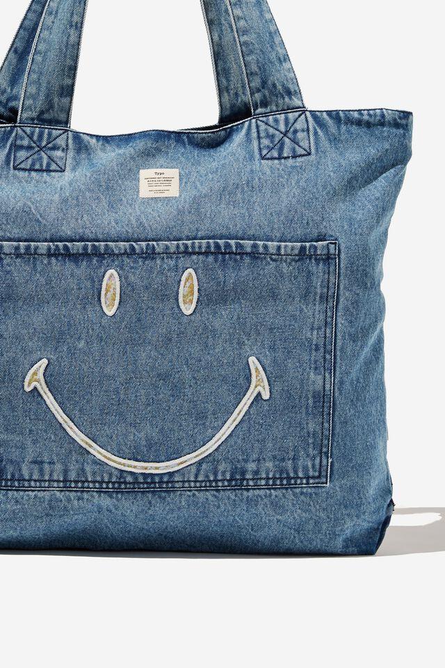 Smiley Exclusive Daily Tote, LCN SMI SMILEY DENIM