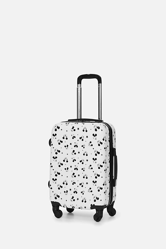 Mickey Suitcase, LCN WHITE MICKEY DITSY PRINT