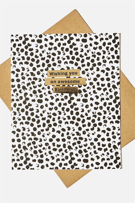 Nice Birthday Card, AWESOME BIRTHDAY BLACK SPOT