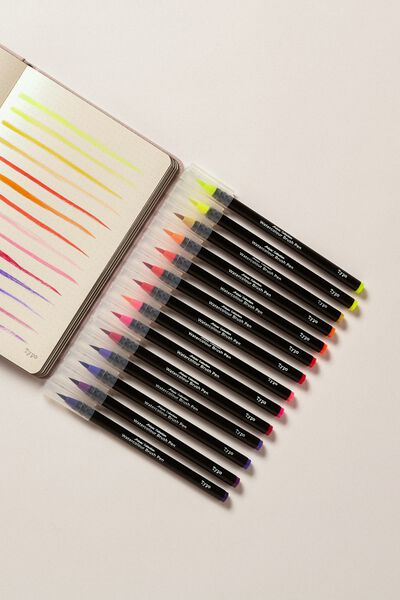 Watercolour Brush Pen Expansion Pk, SUMMER SUNSET