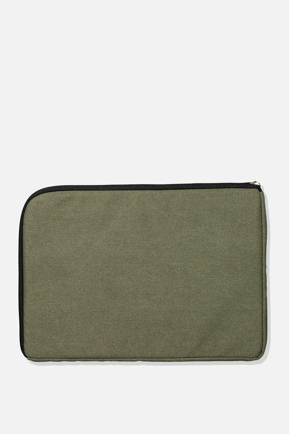 Premium Laptop Case 13 inch, KHAKI & TAN