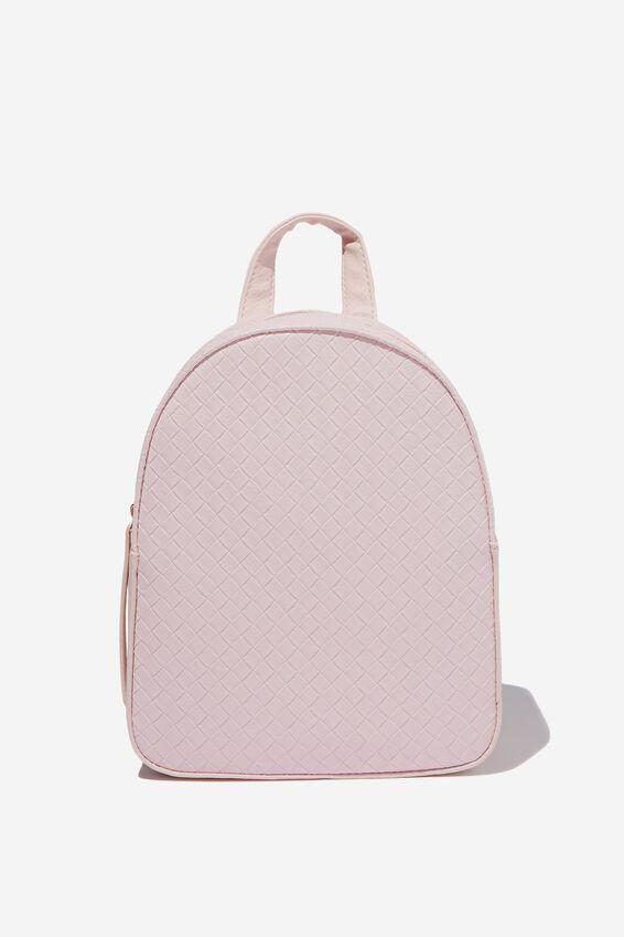 Mini Arch Backpack, BLUSH WEAVE