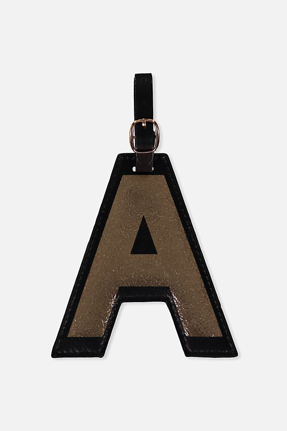 Shaped Alphabet Luggage Tag, A