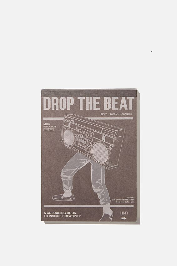 Artists Assistant Post Card, DROP THE BEAT