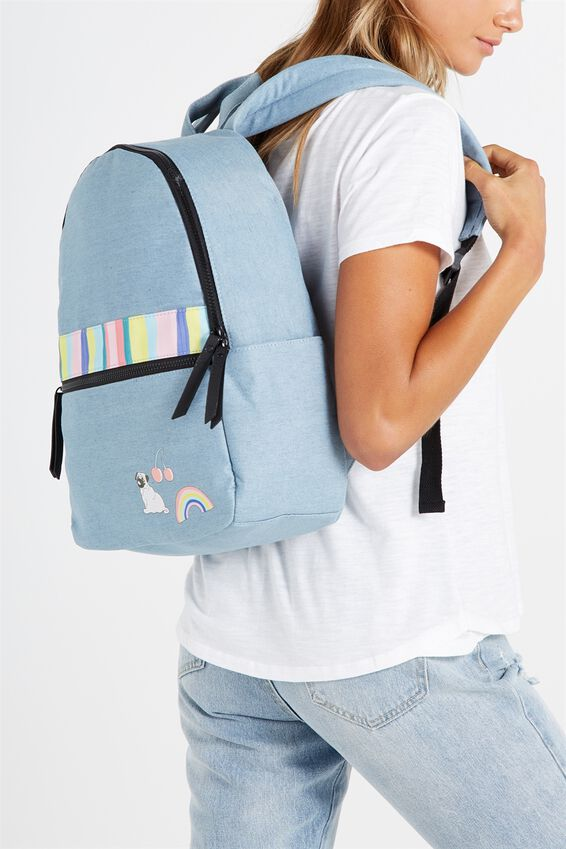 Core Backpack, CHAMBRAY & STRIPES