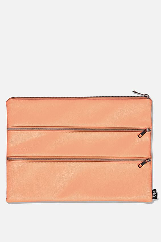 Keep It Together Pencil Case, CORAL
