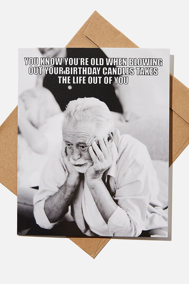 Funny Birthday Card, BLOWING OUT YOUR CANDLES MEME