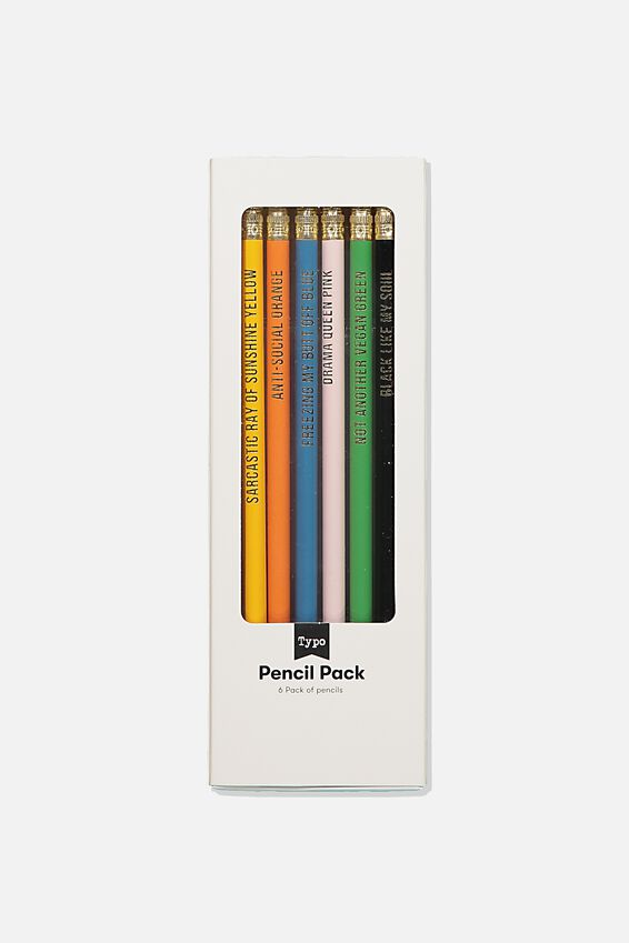 Quote Pencil 6Pk, BRIGHT MULTI!