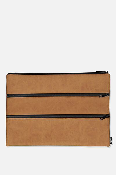 Keep It Together Pencil Case, MID TAN