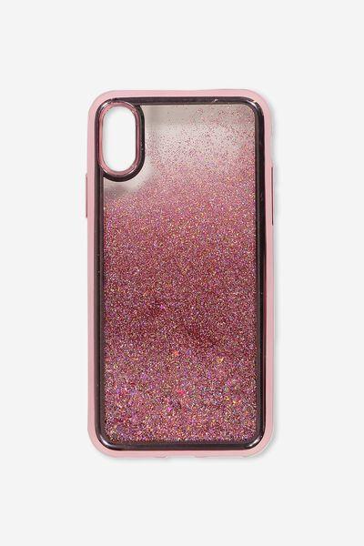 Shake It Phone Case Iphone X,Xs, ROSE GOLD GLITTER