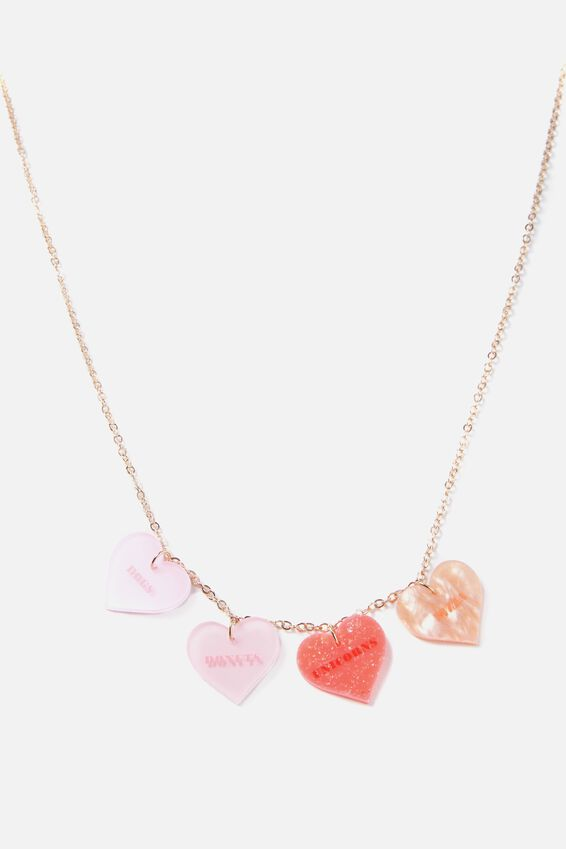 Premium Novelty Necklace, HEART QUOTES