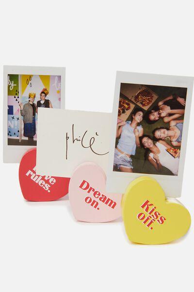 Heart Photo Blocks, PASTEL MULTI