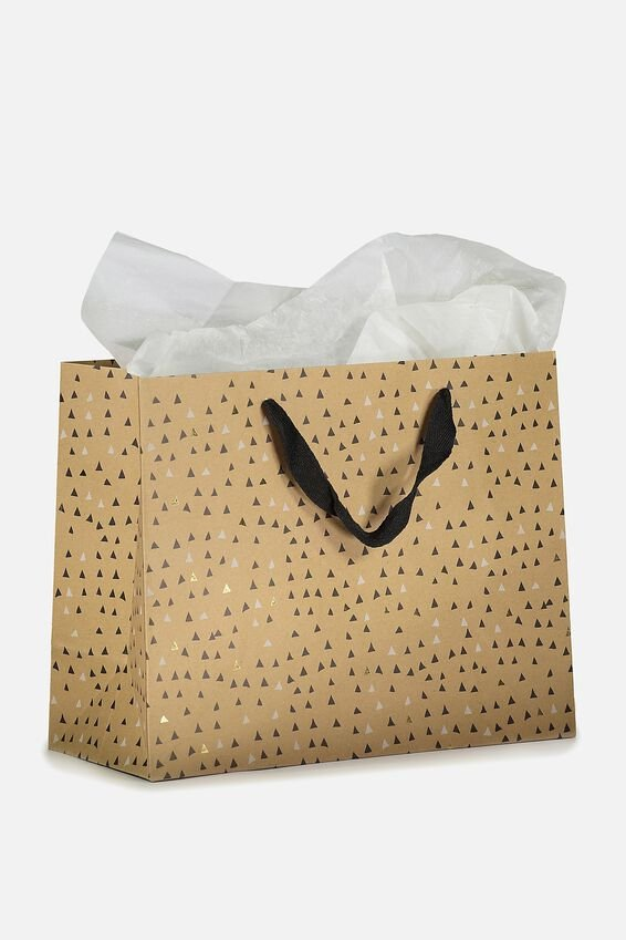 Medium Gift Bag with Tissue Paper, TRIANGLE POLKA
