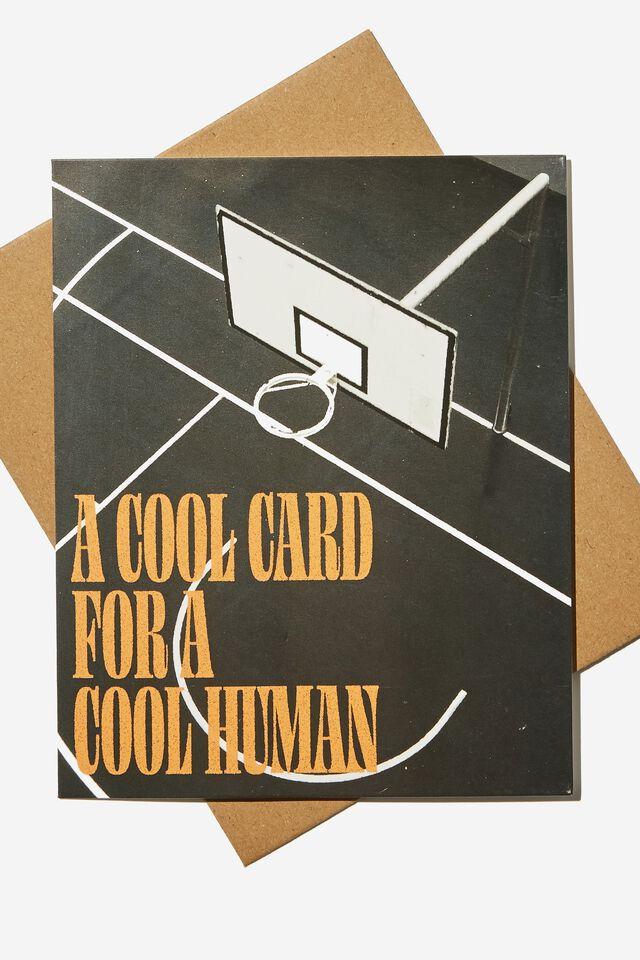 Blank Card, COOL CARD BASKETBALL COURT