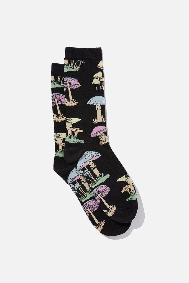 Socks, TRIPPY SHROOM BLACK
