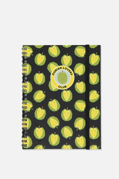 A5 Spinout Notebook Recycled, DURAN LOVER CLUB