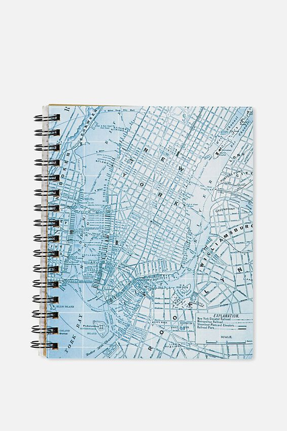 A5 Campus Notebook, BLUE MAP