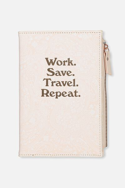 Travel Zip Journal, BLUSH LACE