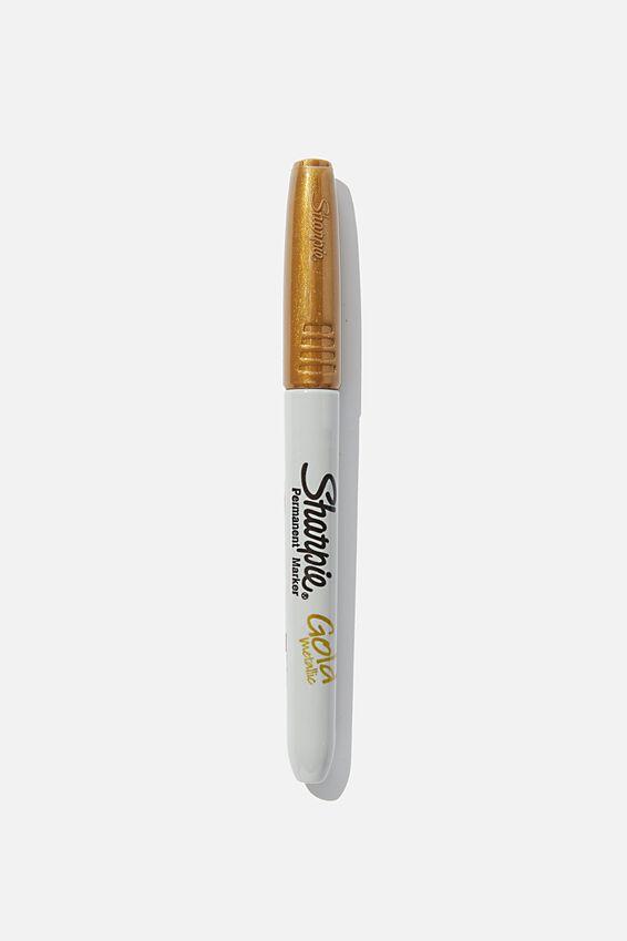 Sharpie Permanent Marker, METALLIC GOLD