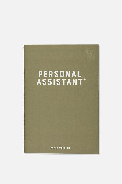 The Small Undated Monthly Diary, KHAKI PERSONAL ASSISTANT