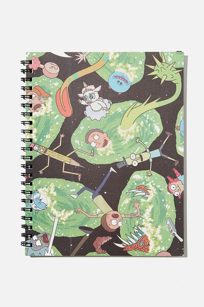 A4 Campus Notebook Recycled, LCN RN RICK SLIME CNW