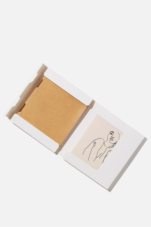Blank Card Set 10 Pack, LINE DRAWING FEMALE!