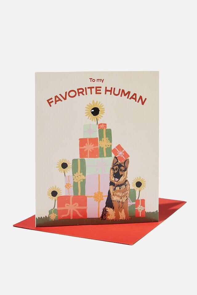 Christmas Card 2021, FAVORITE HUMAN DOG PRESENTS!