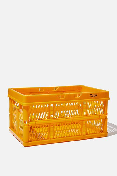 Midi Foldable Storage Crate, TURMERIC