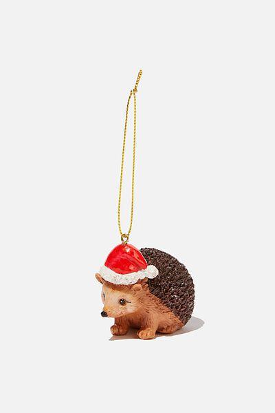 Resin Christmas Ornament, HEDGEHOG
