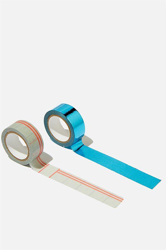 Washi Tape 2Pk, BLUE F OFF!!