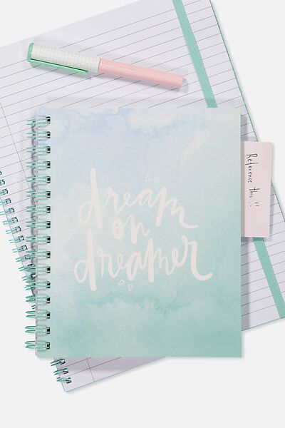 A5 Campus Notebook - 240 Pages, WATERCOLOUR DREAM ON