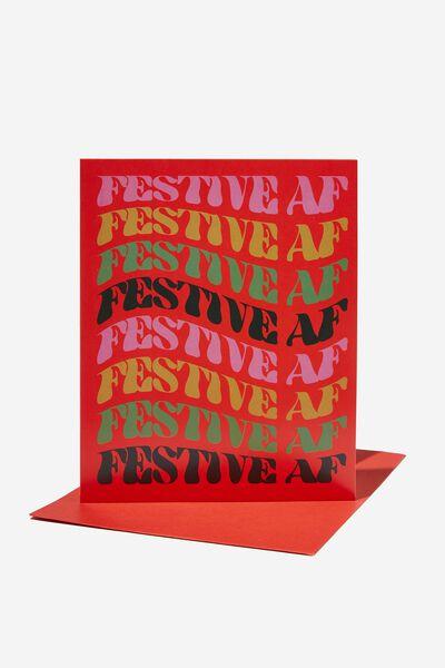 Christmas Card 2021, FESTIVE AF WARPED!