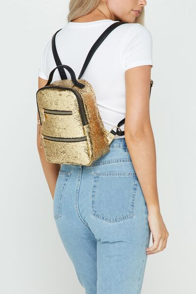 Valencia Backpack, GOLD GLITTER