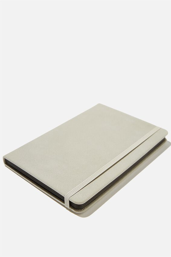 A5 Dot Buffalo Journal, COOL GREY SUEDE