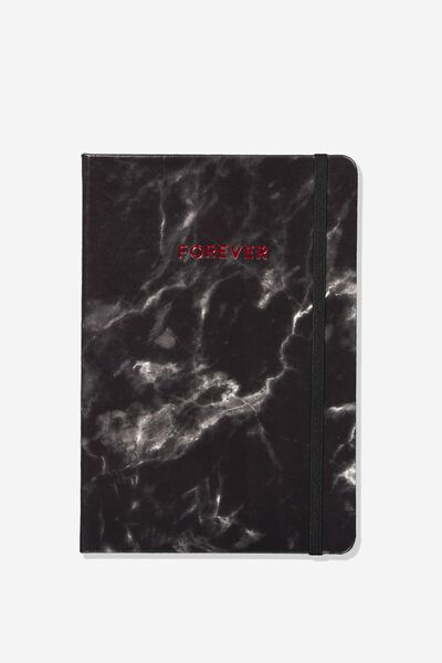 "Personalized A5 Buffalo Journal (8.27"" x 5.83""), BLACK MARBLE"