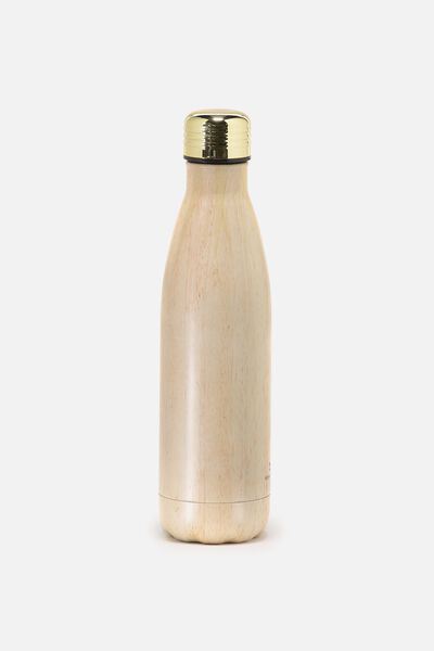 Metal Drink Bottle, TIMBER