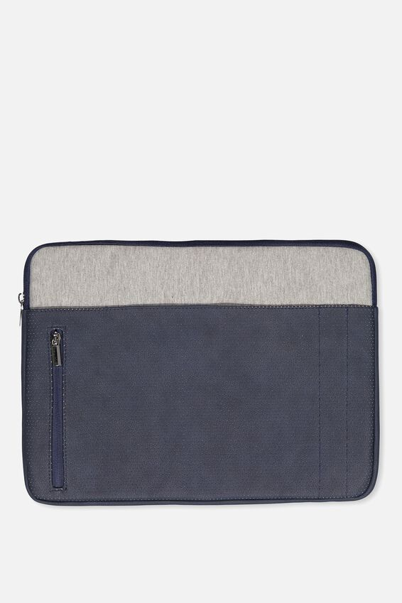 Take Charge 15 Inch Laptop Cover, NAVY & GREY