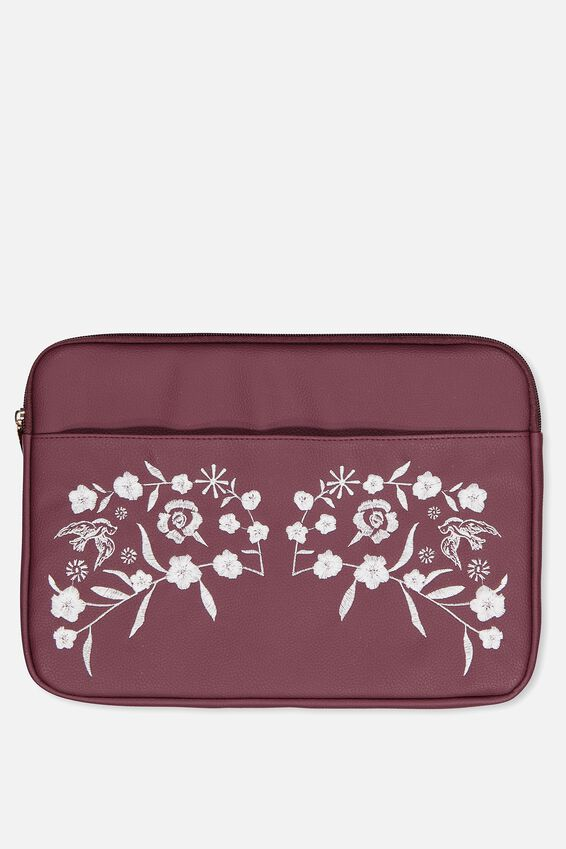 "Take Charge Laptop Cover 13"", BURGUNDY"
