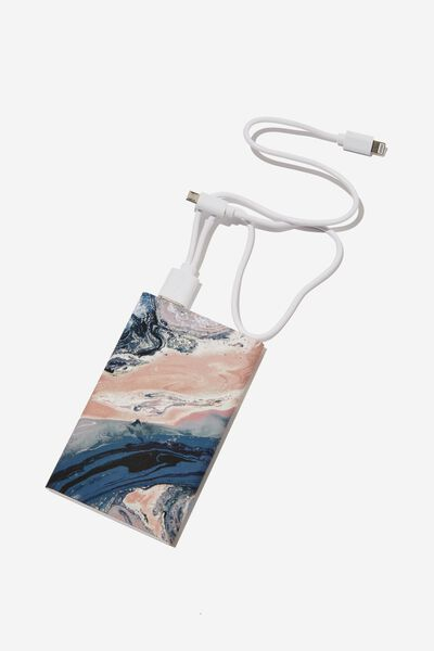 Printed Charge It Charger, MOODY MARBLE