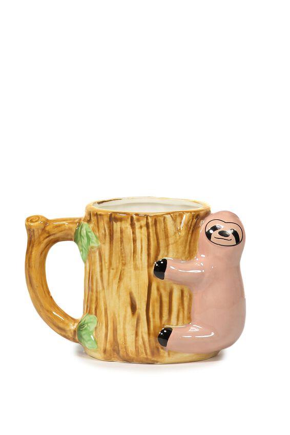 Novelty Shaped Mug, SLOTH LOG